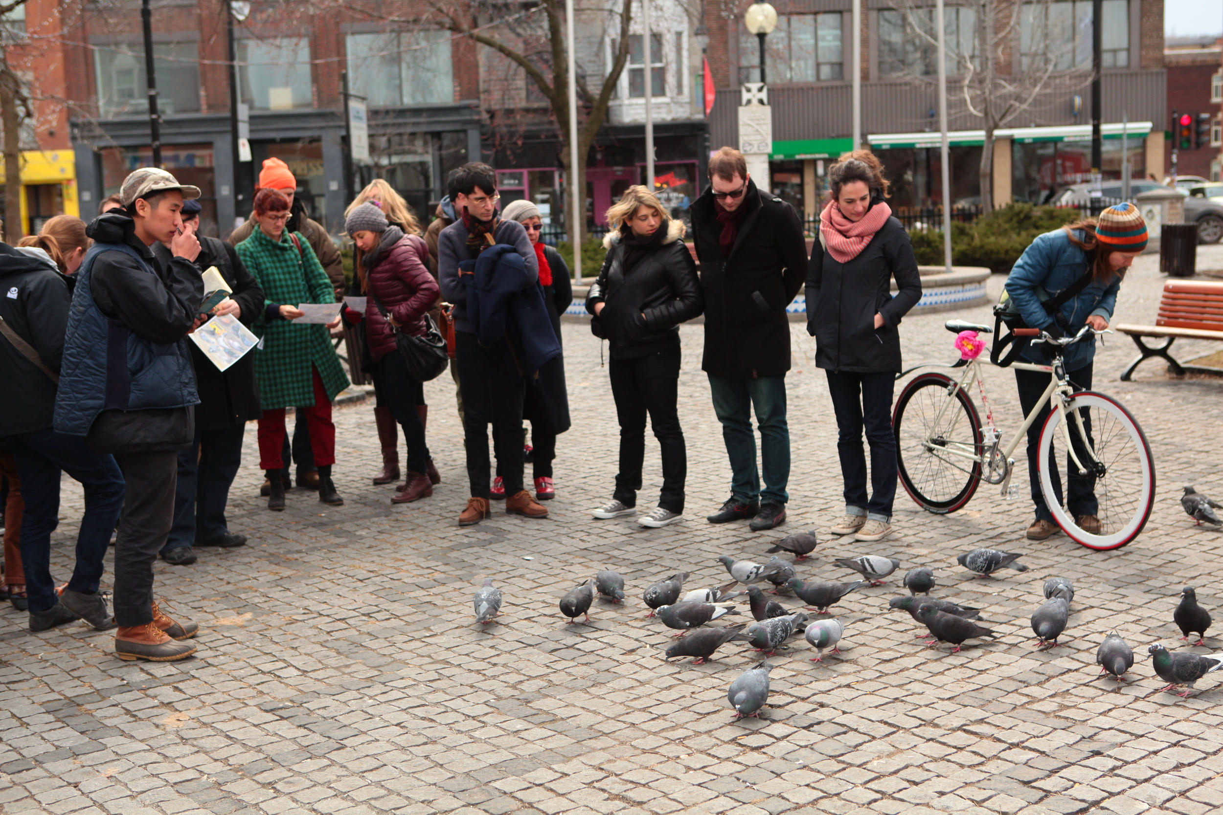 The guided walk in the Plateau of Montreal.