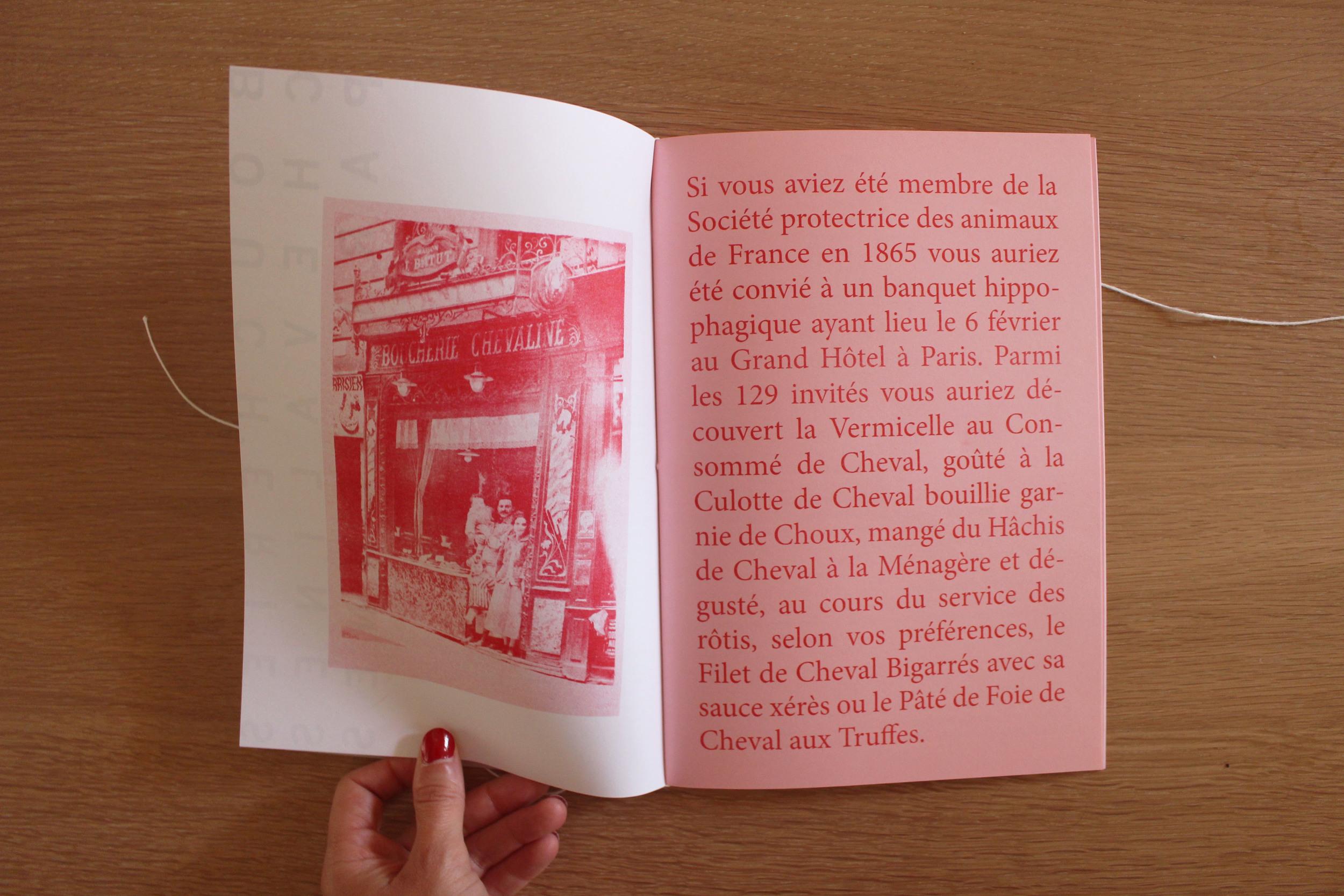 Extract (image of horse butcher storefront from Bibliothèque historique de la ville de Paris, 1925)