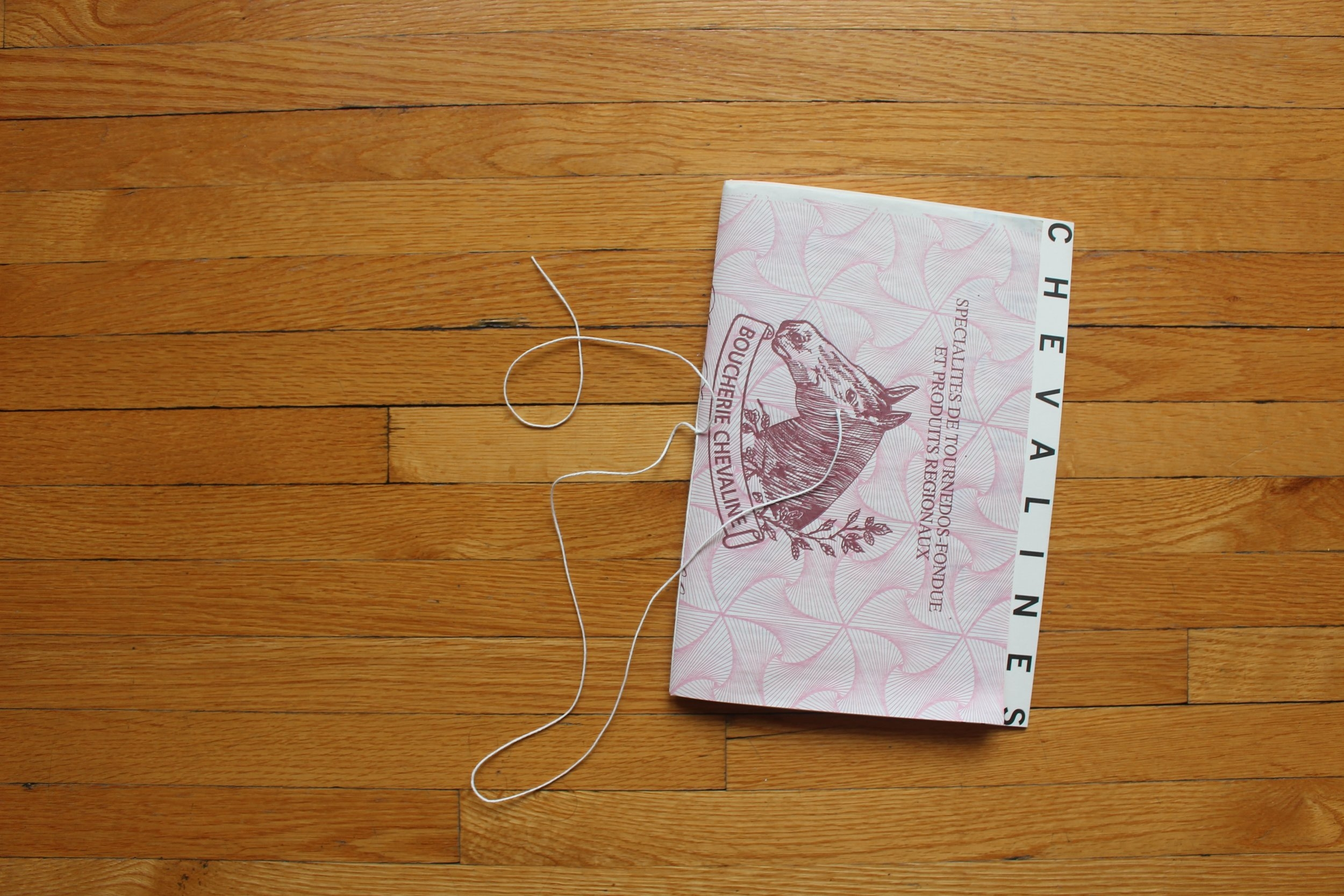 The Cover, made with horse butcher paper and string