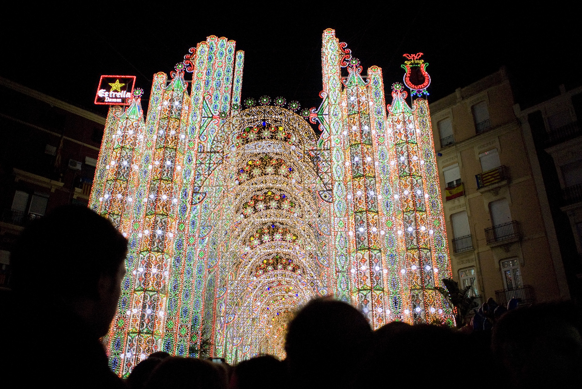 """A spectacular lights display downtown. We watchedthe impressive show, where it is lit up in a thousand different patterns, to a variety of songs, including  Pharrell Williams' """"Happy."""""""
