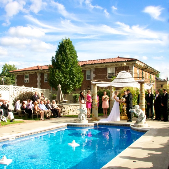 A Poolside Wedding