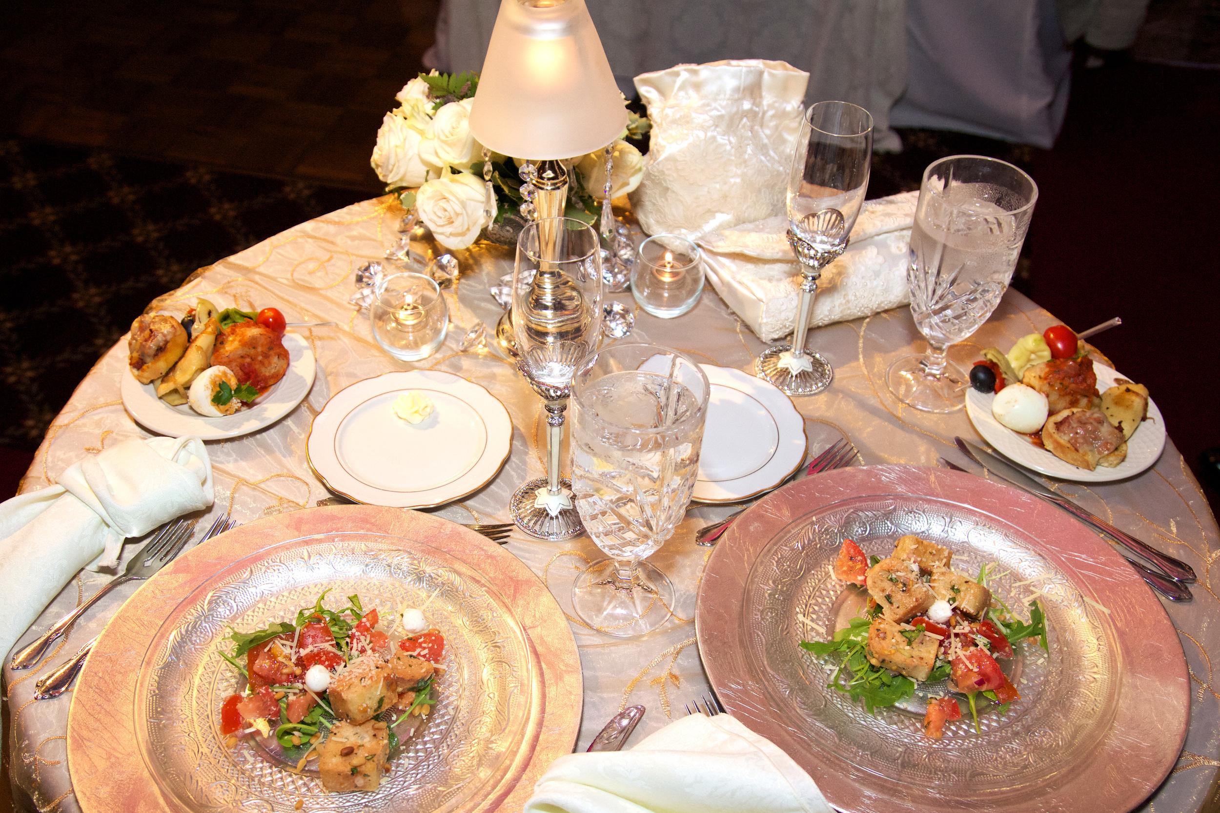 Panzanella Salad and Hors D'ouervres