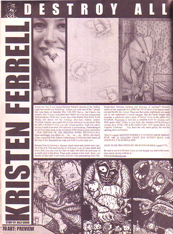 Destroy All- Artist Feature 2002