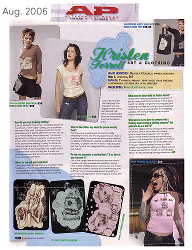 Alternative Press Magazing- Designer Feature 2006