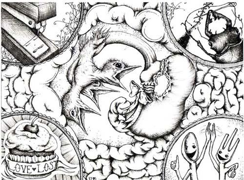"""Gastric Bypass Surgery"" article illustration- Pistil Magazine 2009"