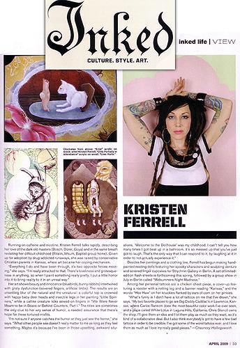 Inked Magazine- Artist feature 2009