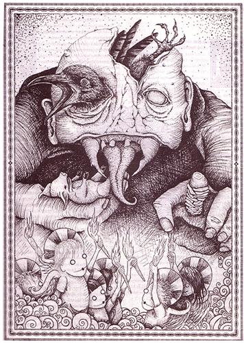 Punk Planet Magazine- article illlustration 2003