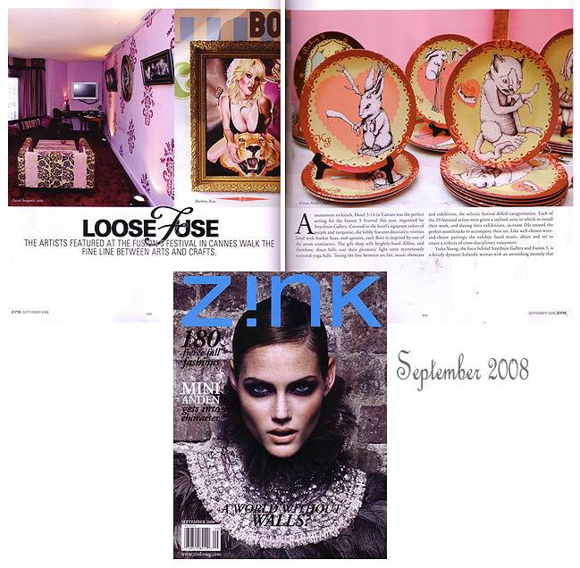 Z!nk Magazine- exhibit review 2008