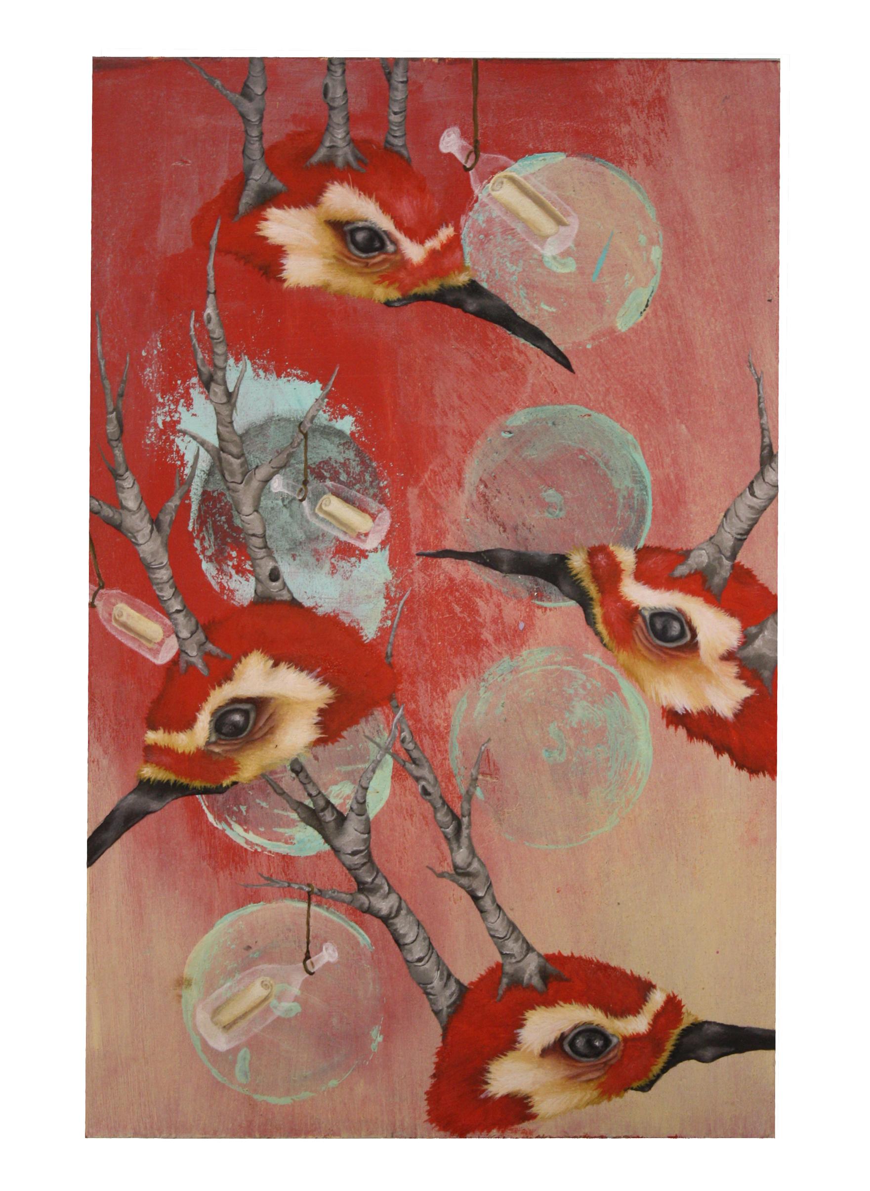Kristen Ferrell - collaboration painting with Brett Allen