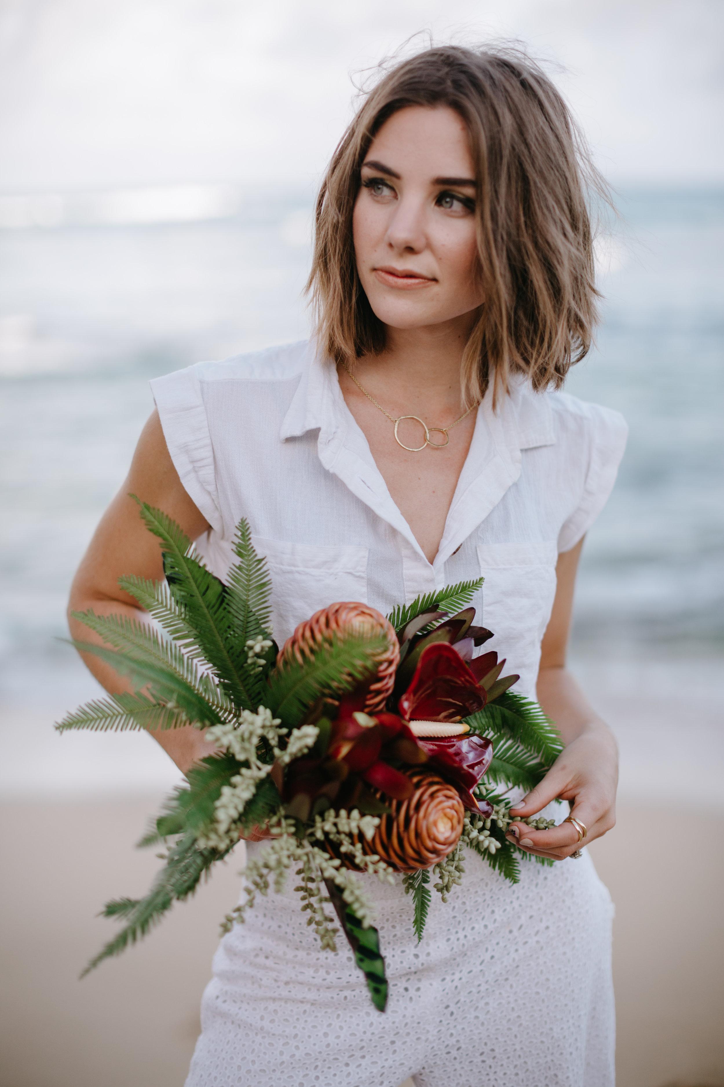 Natural beach bridal makeup.