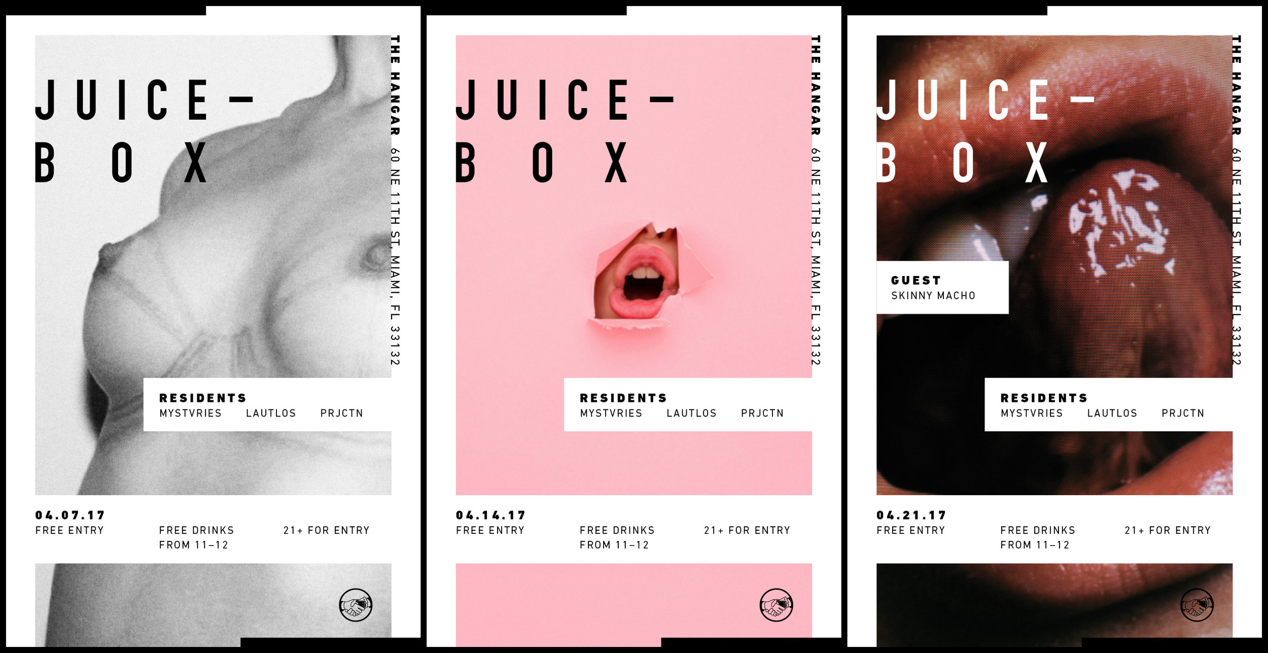 Juicebox promotional posters.