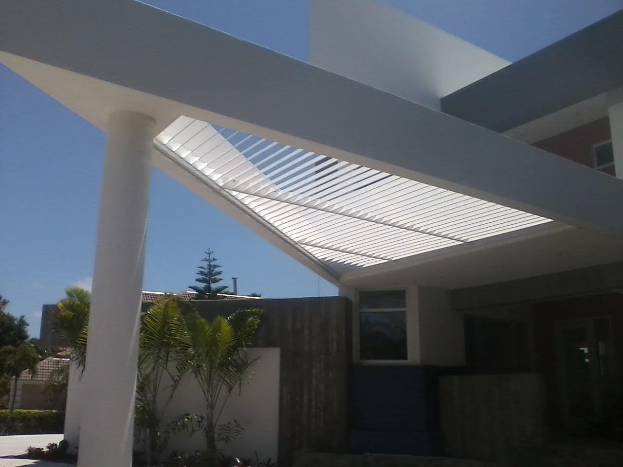 293 Home on Bird Key Driveway Canopy