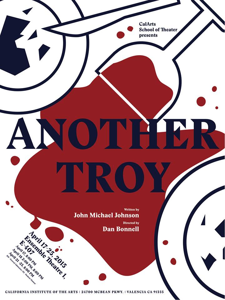 Another Troy - A new play by John Michael JohnsonDirected by Dan BonnellScenic Design by Yao ZhangApril 17-25, 2015Ensemble Theater, California Institute of the Arts