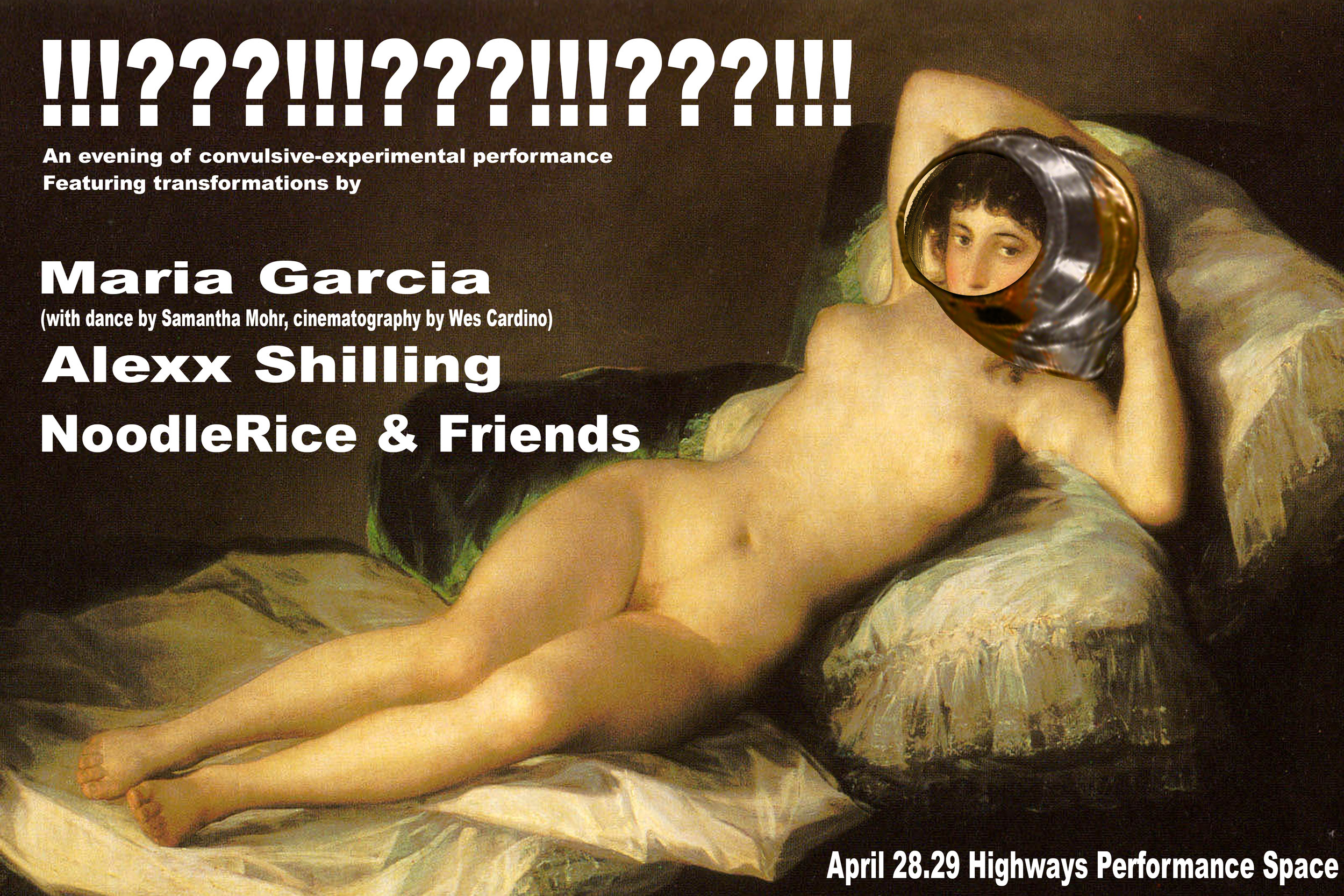 !!!???!!!???!!!???!!! - April 28.29, 2019@Highways Performance SpaceAn evening of convulsive-experimental performanceUntitled 16 by NoodleRice & Friends