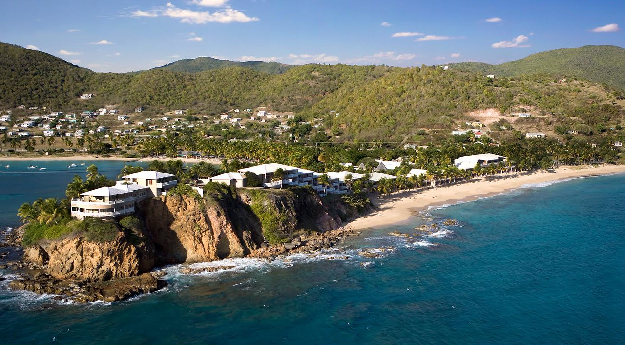 View of Antigua from Curtain Bluff