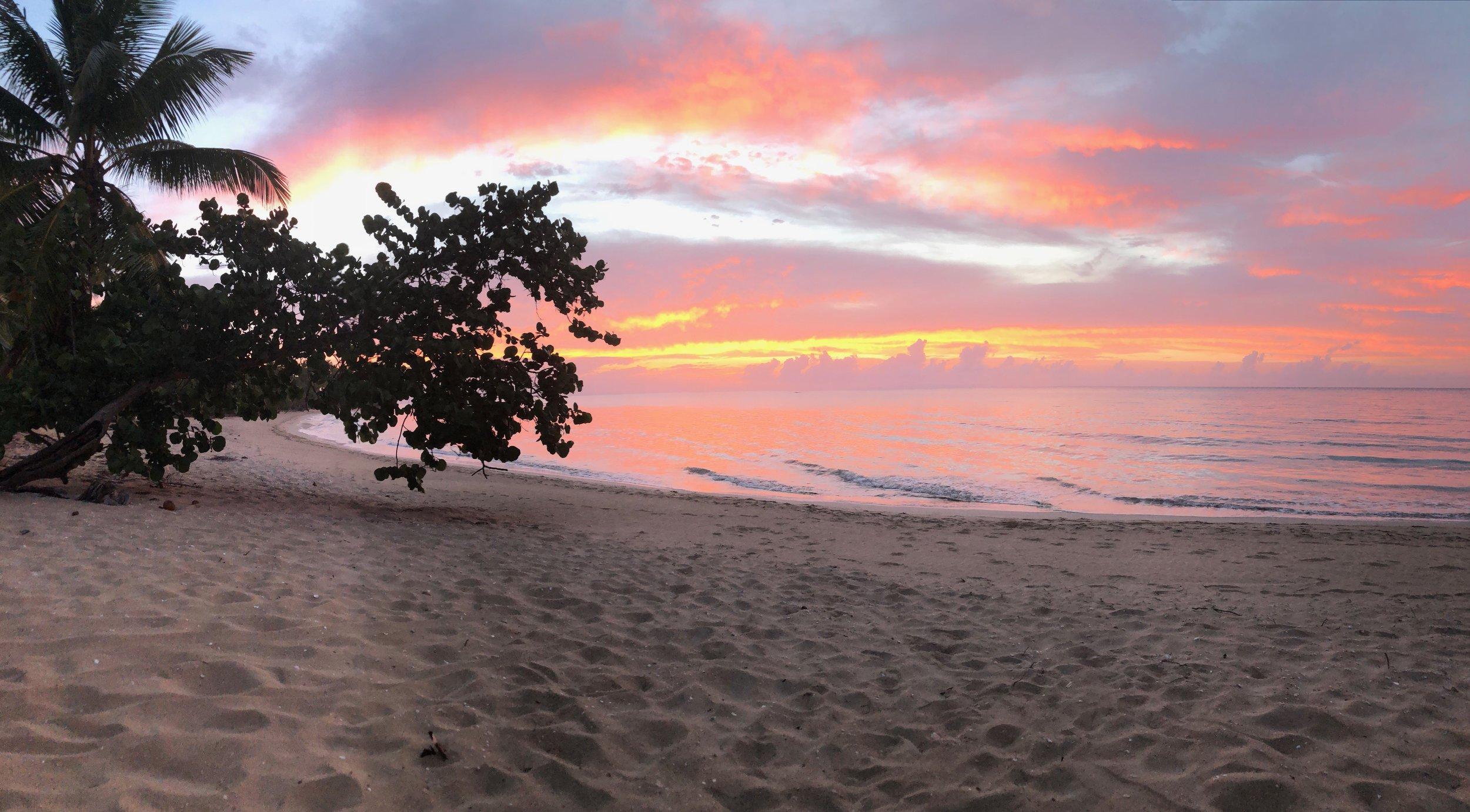 Sunset over Samana