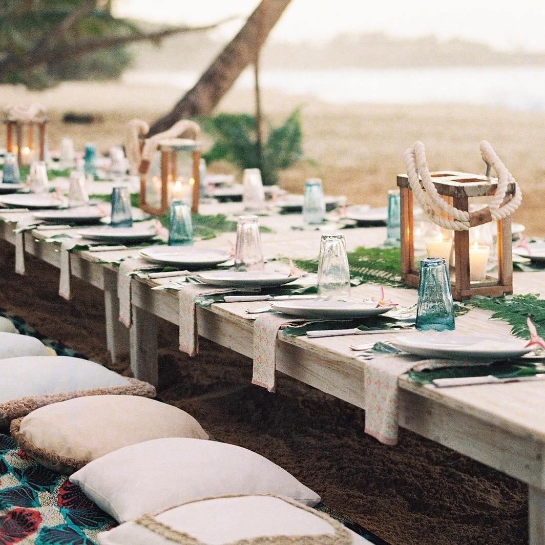 Playa grande beach club private dinner on the beach