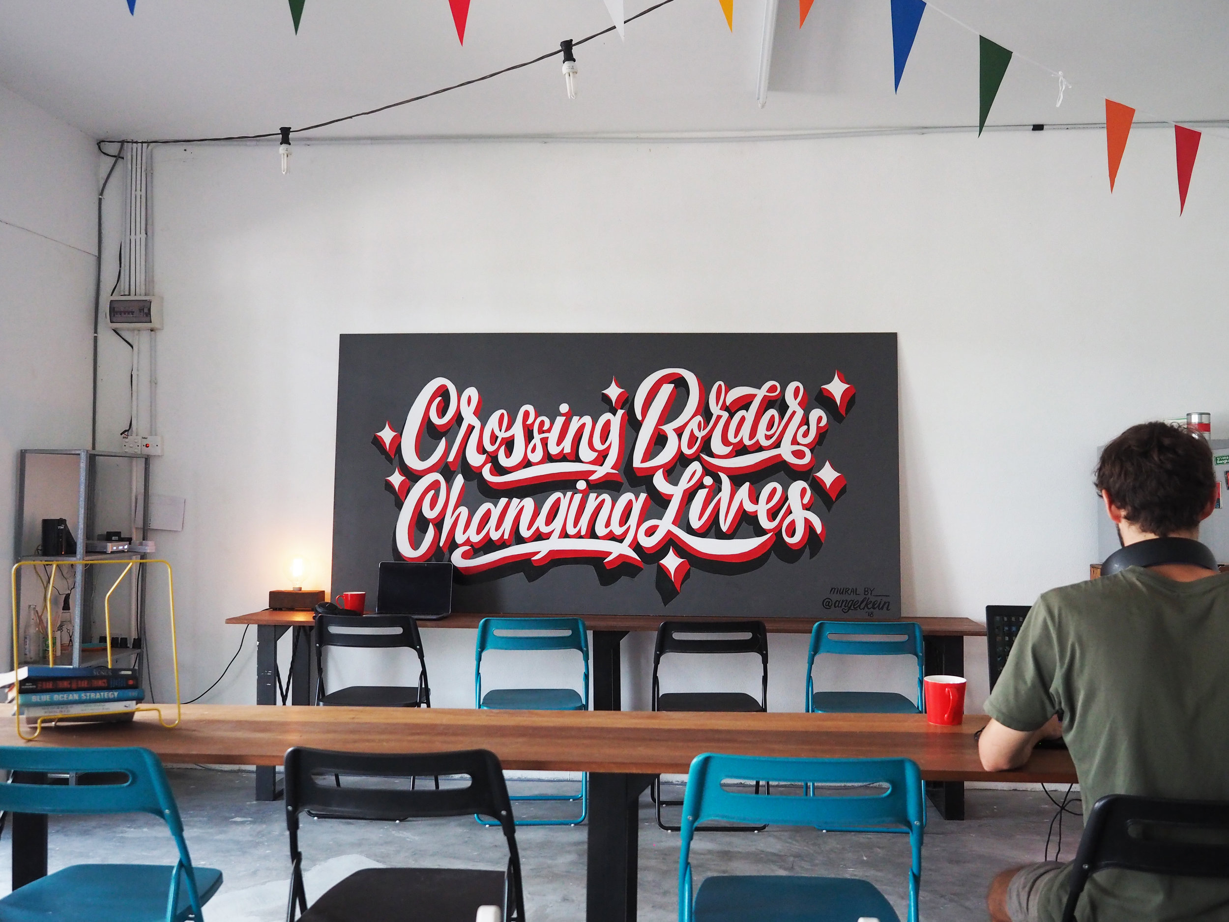 Mural for JetPack co-working space in Malaysia.