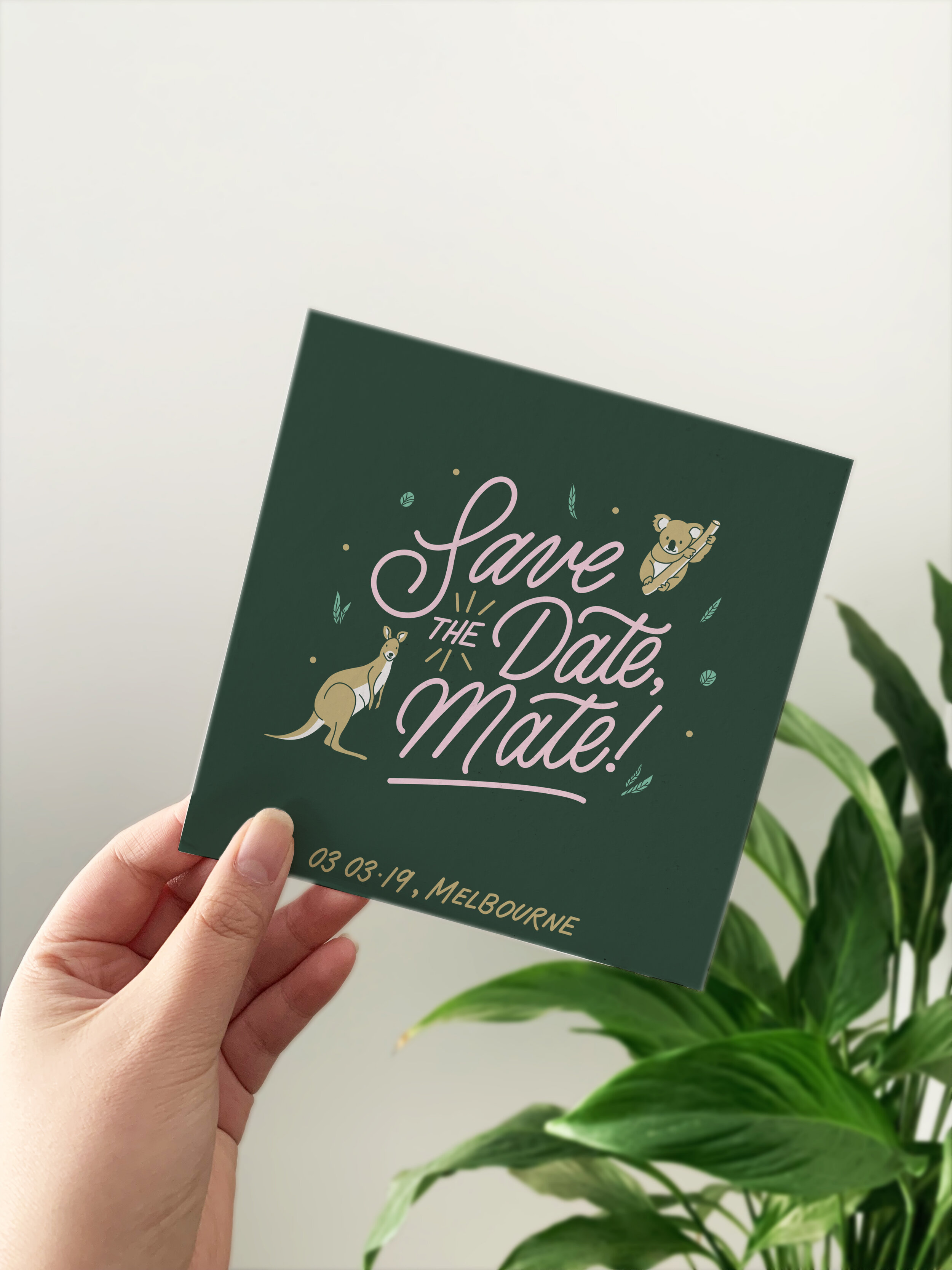 ︴Lettering and Illustration ︴Save the Date Invites