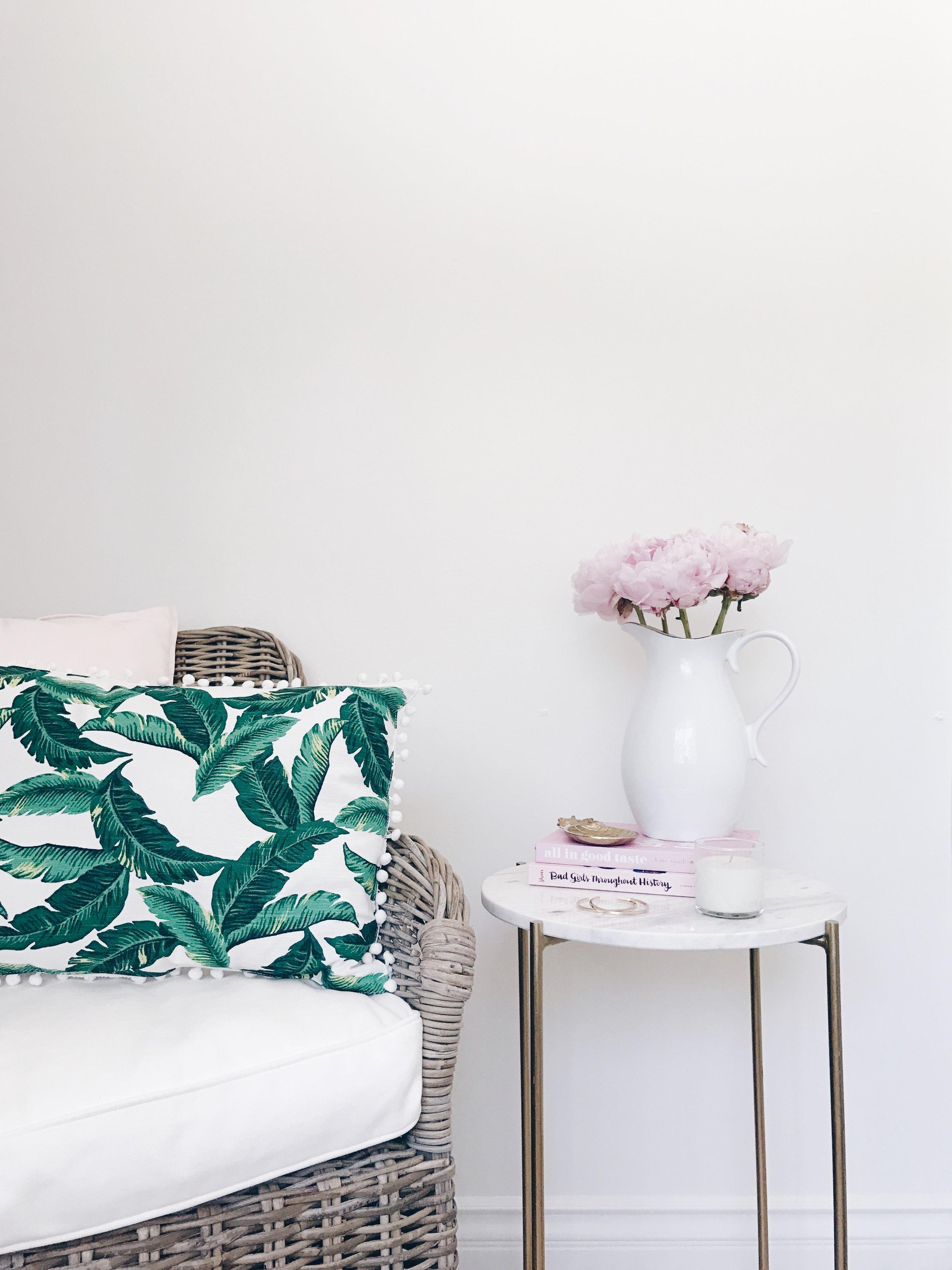 Super cute palm print pillow