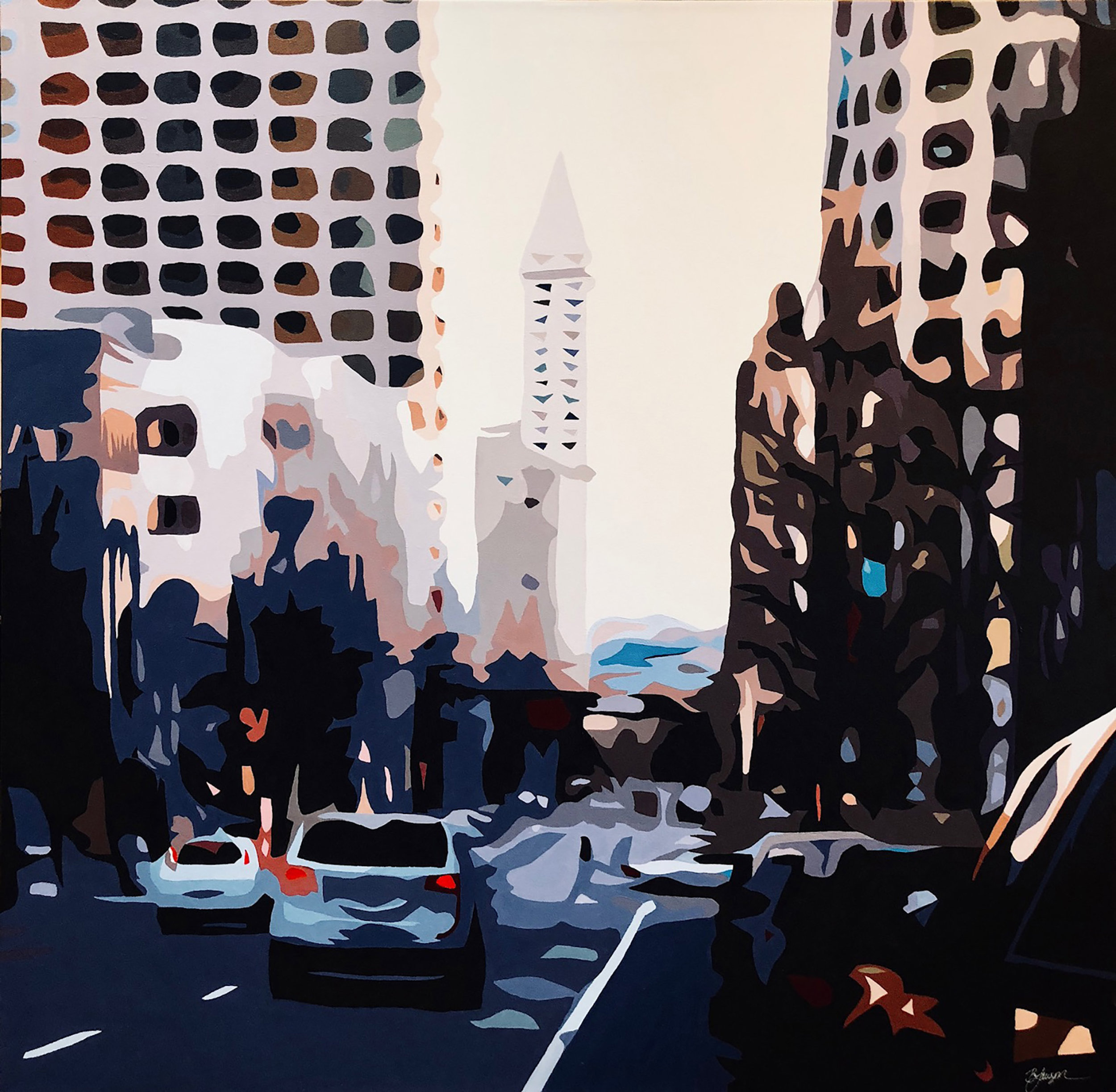 SOLD - LAWSON - _Smith Tower_ 36_ x 36_ acrylic on canvas.jpg