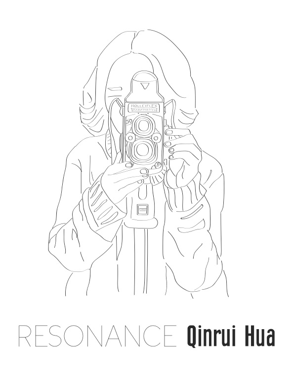 Ver 1. Design based on a portrait of photographer Qinrui Hua