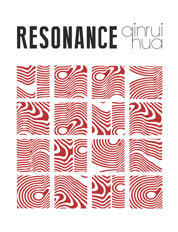 "Ver 3. Graphics inspired by the meaning of the word ""resonance"" in physics."