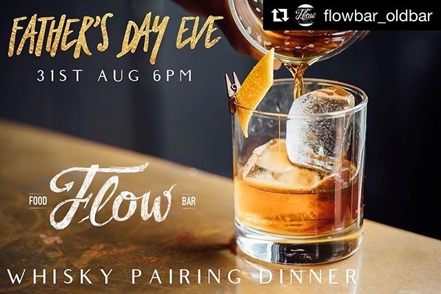 Dad needs more than a day... he needs a Father's Weekend! Stay upstairs with us for the weekend and whisky and dine him downstairs at our Flow Bar. ・・・ #Repost @flowbar_oldbar ・・・ FATHER'S DAY EVE... Saturday 31st August... At this special Father's Day experience Dad will enjoy a five-course whisky pairing dinner where he will learn about the history of whisky, how whisky is made and comparisons between different types of whisky.  He will also learn the best way to appreciate single malt whisky from one of the most knowledgeable whisky professionals in Australia.  We will be tasting*: 🥃 Douglas Laing's Scallywag 🥃 The English - Original 🥃 Glenturret - Sherry Edition 🥃 Tomatin Cu Bocan 🥃 Kavalan Podium *Whiskies subject to change but any replacement will be comparable  Paired with the above whiskies we'll be feasting on the following dishes: 🍞 On arrival - Bread, chorizo & olives 🍤 First course - Pickled Prawn salad with labna (mild spice) 🦀 Second course - Crab slider with chives and lemon zest garlic aioli 🥩 Third course - Beef tataki with beetroot relish & horseradish creme fraiche 🥓 Fourth course - Pork belly bao with pickled carrot, pickled cucumber and seeded mustard 🍫 Fifth course - Chocolate mousse with berry compote 🥬 The above accompanied by Iceberg salad with blue cheese & lardon / Kipfler potatoes. . 🎶 Live music from local favourites @thesouthernhold will provide the soundtrack to this evening that will let Dad know just how special he is. . 🎟 Tickets are $99 + BF per person, available from Dramatix or can be purchased directly from Flow Bar. . . #fathersday #dad #whisky #whiskey #foodpairing #dinnerparty #barringtoncoast #midnorthcoast #midnorthcoastnsw #oldbarbeach