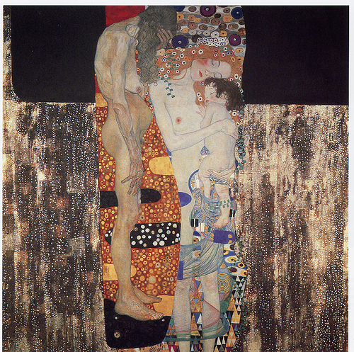 Gustav Klimt,  The Three Ages of Woman , 1905 (Image courtesy of  Wikiart )