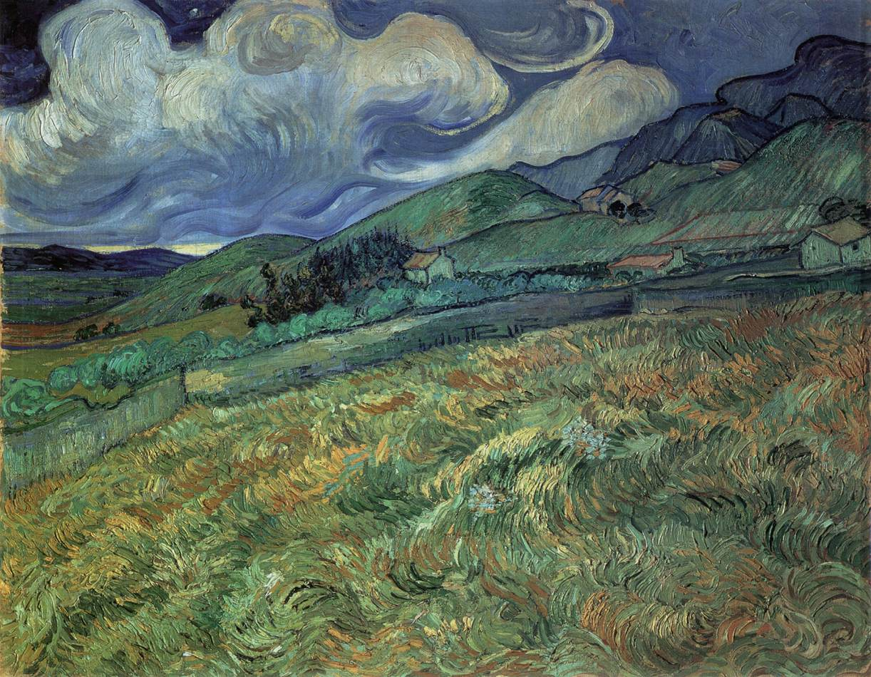 Vincent Van Gogh,  Mountainous Landscape Behind Saint-Paul Hospital , 1889 (Image courtesy of  Web Gallery of Art