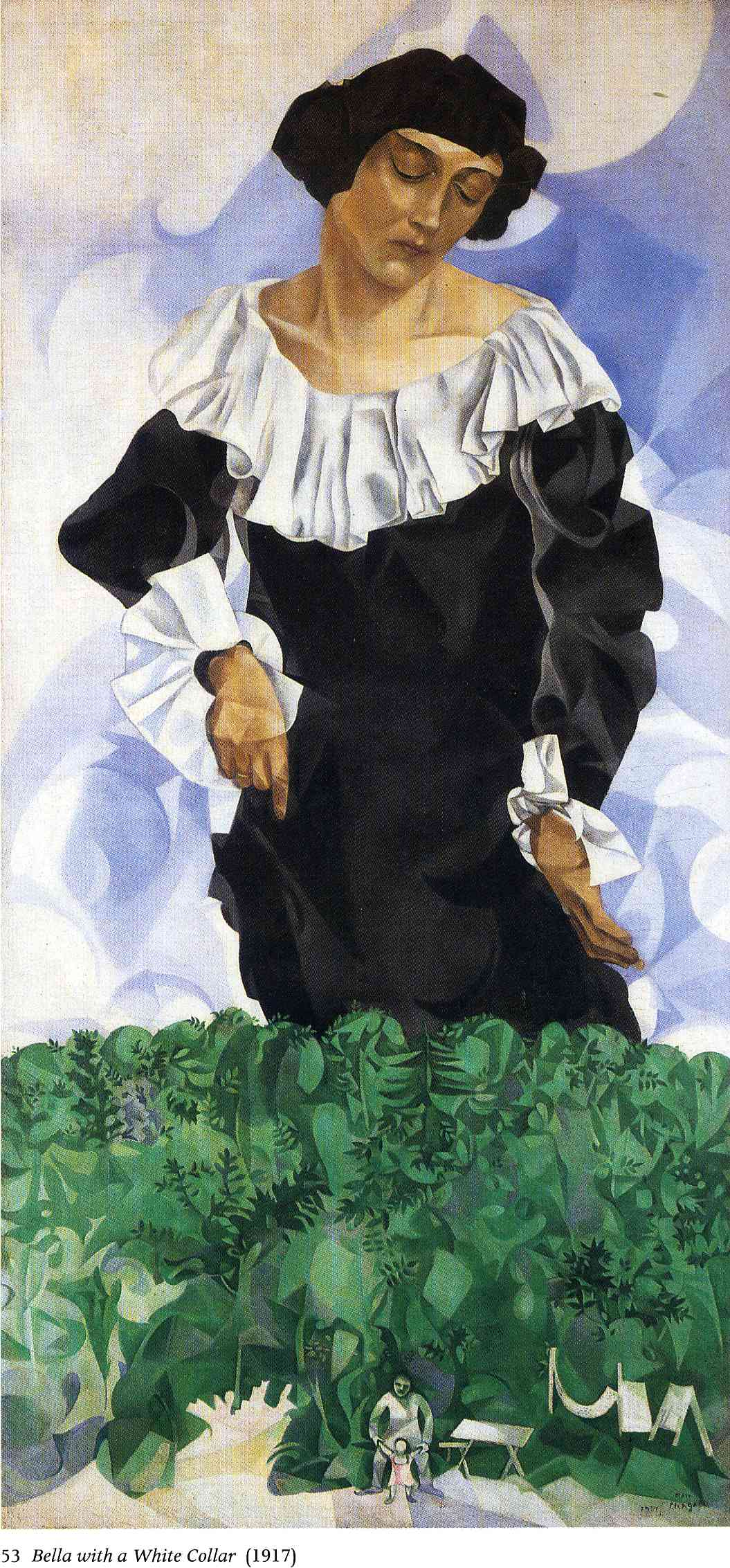 Marc Chagall,  Bella with a White Collar,  1917 (Image Courtesy of  WikiArt )