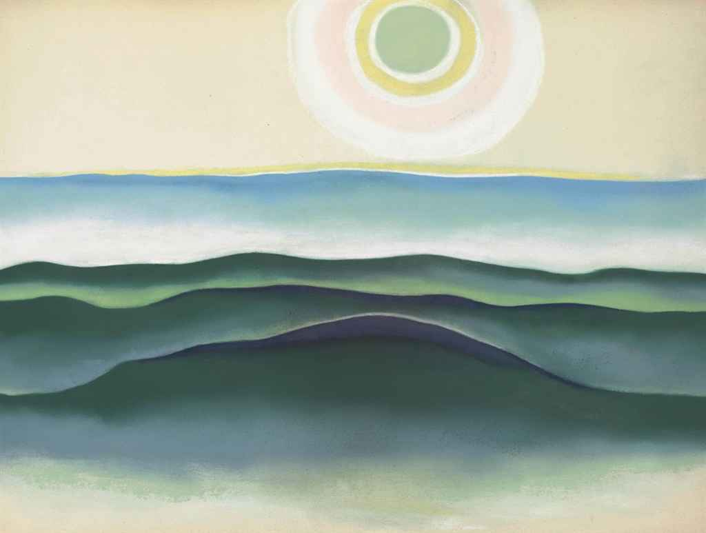 Georgia O'Keeffe,  Sun Water Maine , 1922 (Image Courtesy of  Christie's )