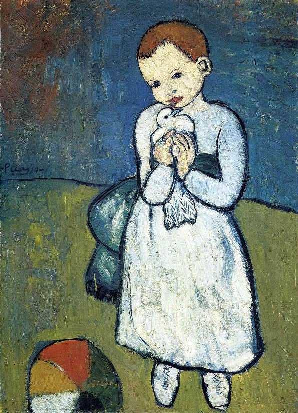 Pablo Picasso,  Child with a Dove , 1901 (Image Courtesy of  pablopicasso.org )