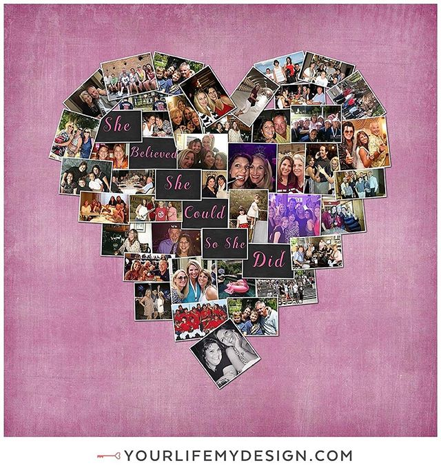 #motivational love this #tuesday ❤️12x12 with 48 photos❤️ #heart collage by #yourlifemydesign#etsy #etsyhunter #etsyfinds⠀ #shebelievedshecouldsoshedid #shebelieves #survivors #cancersucks #cancer #believe #believeinyourself #believer #girlfriend #bestfriends #bestie #collageart #bestgiftever #loveit #friends #photoaddict #phototherapy #thehappynow #positivevibes #positivethinking #positiveenergy