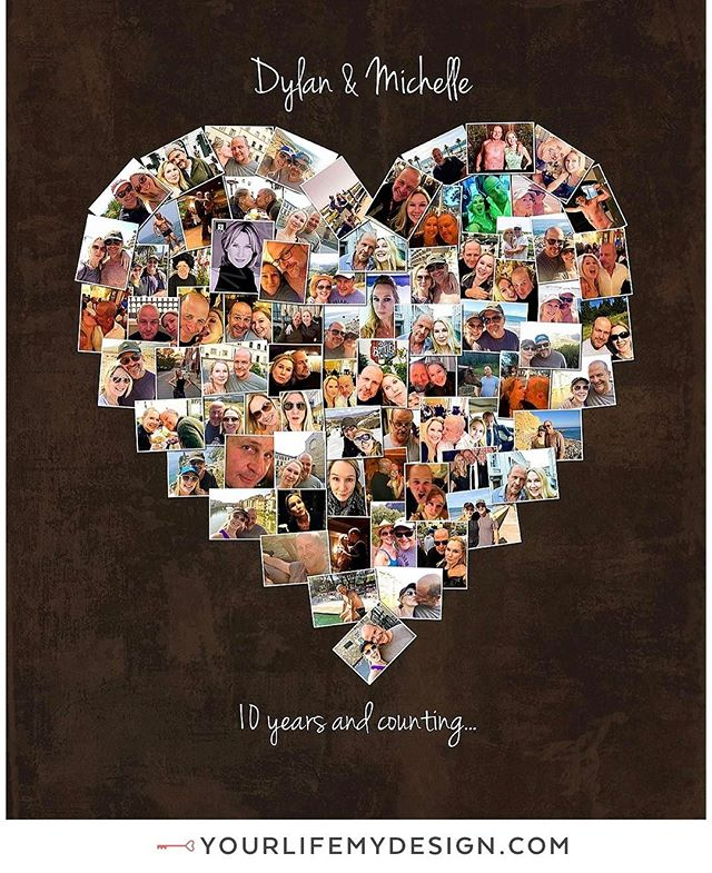Dylan & Michelle are celebrating their #10th #anniversary 16x20 with 79 pics COLLAGE DESIGN BY: #yourlifemydesign #etsy #thehappynow #etsyfinds #tenyears #Happyanniversary #LOVE #anniversarygift #besthusbandever #bestgiftever #highschoolsweethearts #collage #collegesweethearts #heart #10years #handmadelove #marryme #tenyearanniversary #milestoneanniversary #partyplanner #inlove #weddingplanner #lovelife #inlove #weddingday #weddings #10yearanniversary  #weddinganniversary
