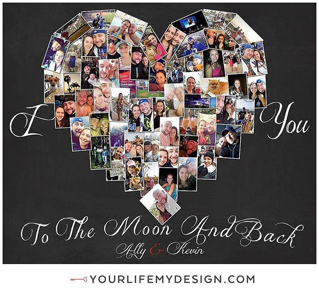 Ally & Kevin celebrating #love and #memories with this 20x24 with 61 photos. DESIGN by #yourlifemydesign #etsy #heart #etsyfinds #etsysellers #heartcollection  #love #instagood #photooftheday #iloveyou #lovelife #inlove #weddingday #loveit #loveyou #lovethisgirl #lovethisguy #loveyouguys #loveisintheair #collageart #anniversary #loveit #lovehim #loveher #boyfriend #girlfriend #weddinganniversary #iloveyoutothemoonandback