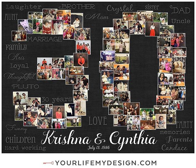 Krishna & Cynthia are celebrating their #30th #anniversary! DESIGN by #yourlifemydesign #etsy #thehappynow #etsyfinds #tenyears #Happyanniversary #LOVE #anniversarygift #besthusbandever #bestgiftever #highschoolsweethearts #collage #collegesweethearts #heart #30years #handmadelove #marryme #thirtyyearanniversary #milestoneanniversary #partyplanner #inlove #weddingplanner #lovelife #inlove #weddingday #weddings #30yearanniversary  #weddinganniversary