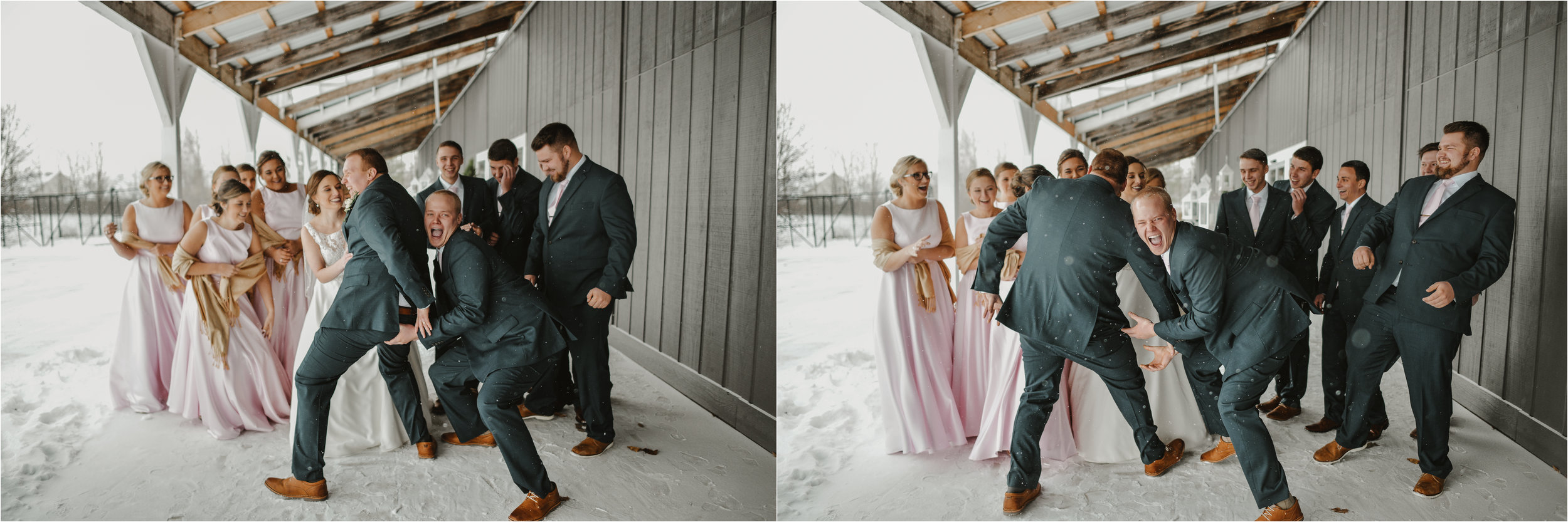 When you tell the party to attack the bride + groom with love..