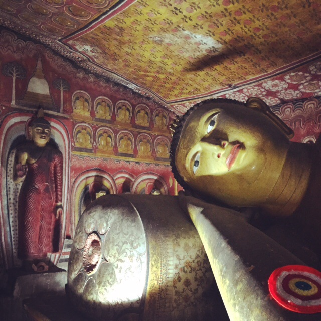 Seeing the Buddhas inside the cave temples in Dambulla is definitely worth the day trip from Kandy.