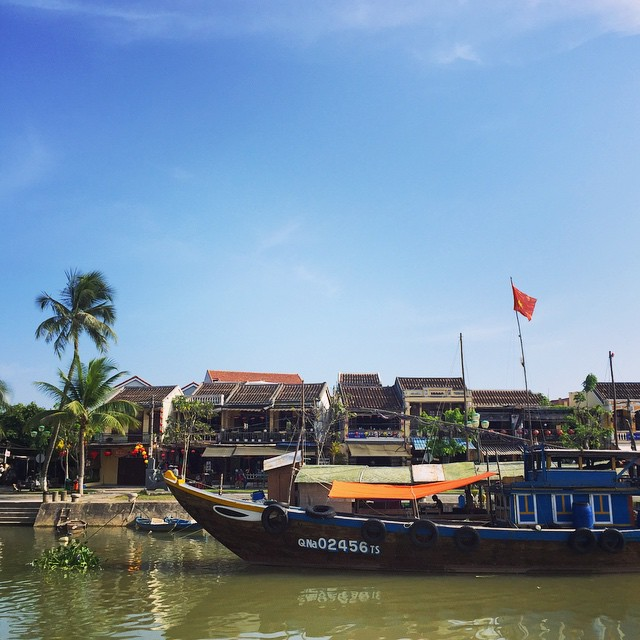 Imagine how much better the riverside view in Hoi An looks once there's a frosty drink in your hand