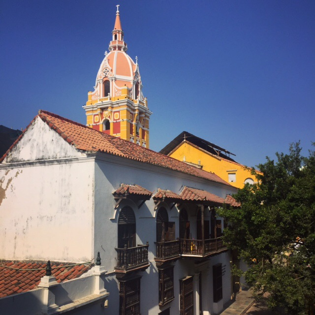 The spectacular Catedral of Cartagena, as seen from the Palacio de la Inquisición