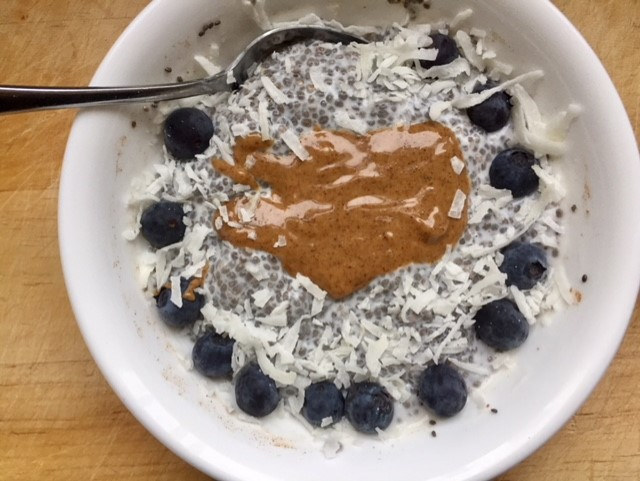 Chia pudding, not my new BFF.Almond butter on the other hand ...