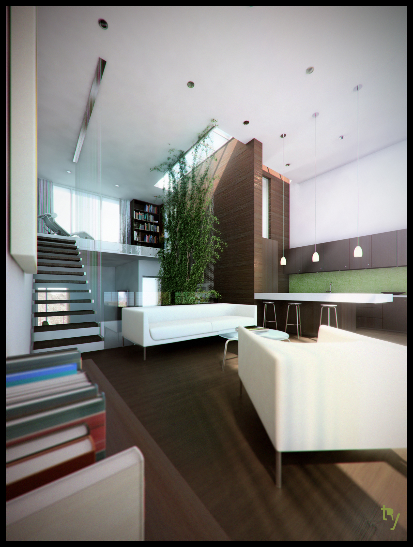 52thirty Townhomes Rendering 1