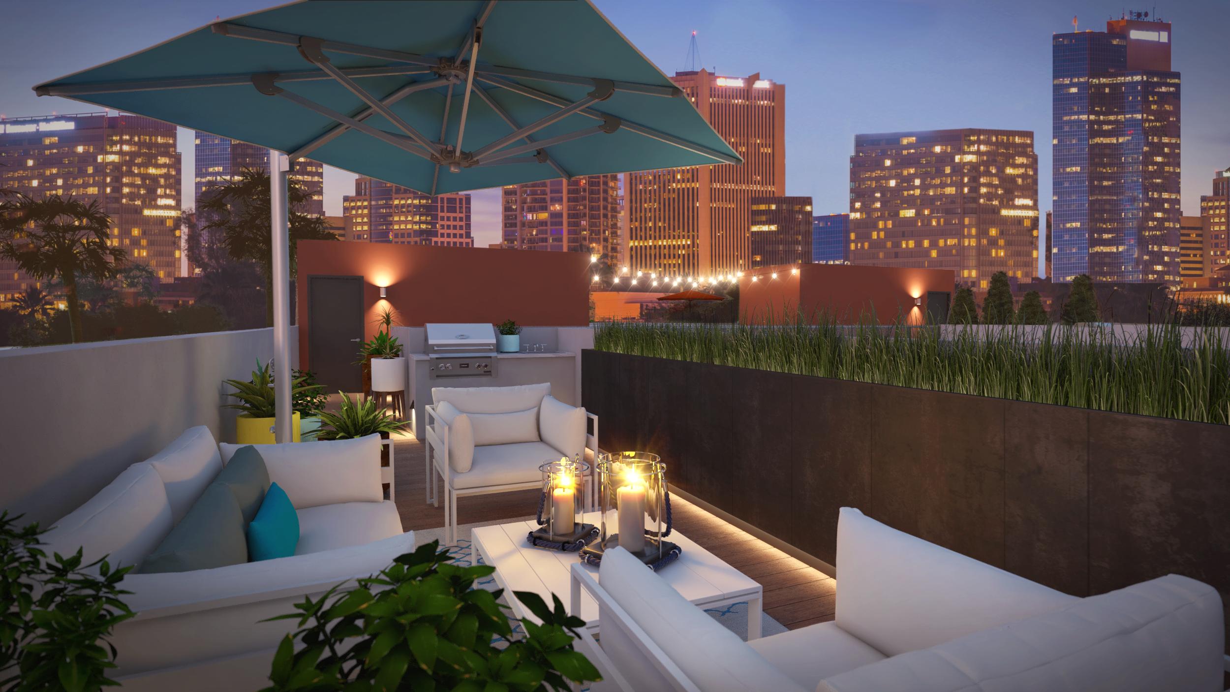 Artisan on Roosevelt roof deck rendering
