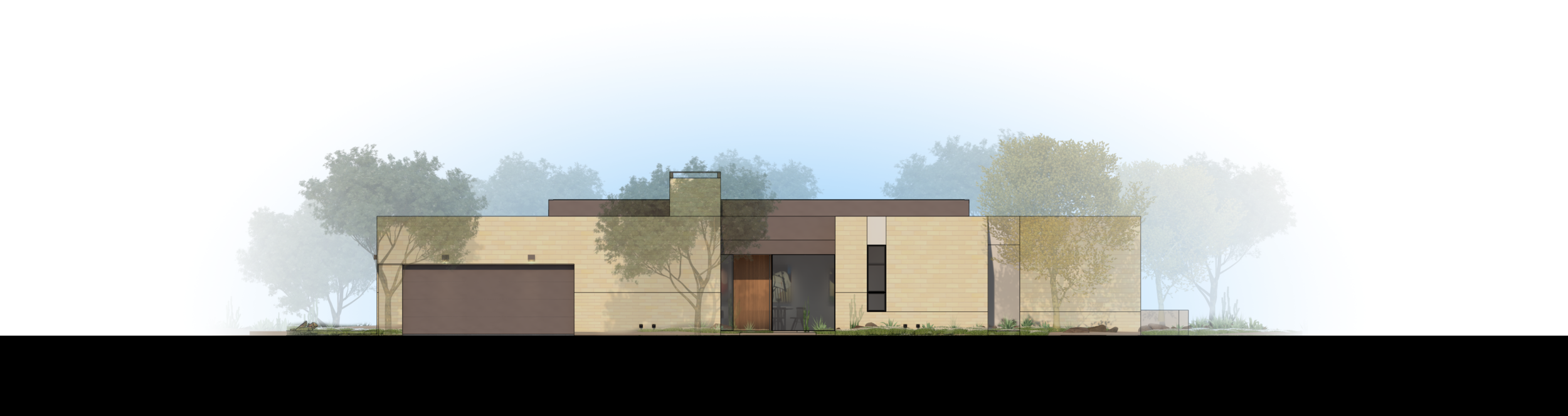 Palo Verde Lane Rendered Elevation 4