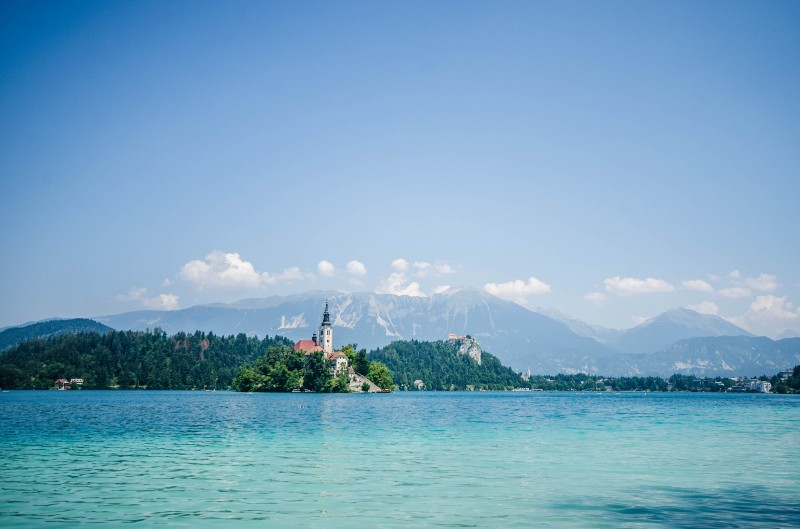 Lake Bled, Slovenia.. Thats the Alps behind there. mmm.. so good. :)