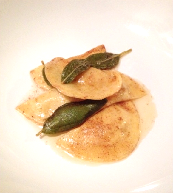 fresh pasta with butternut squash, sage and brown butter