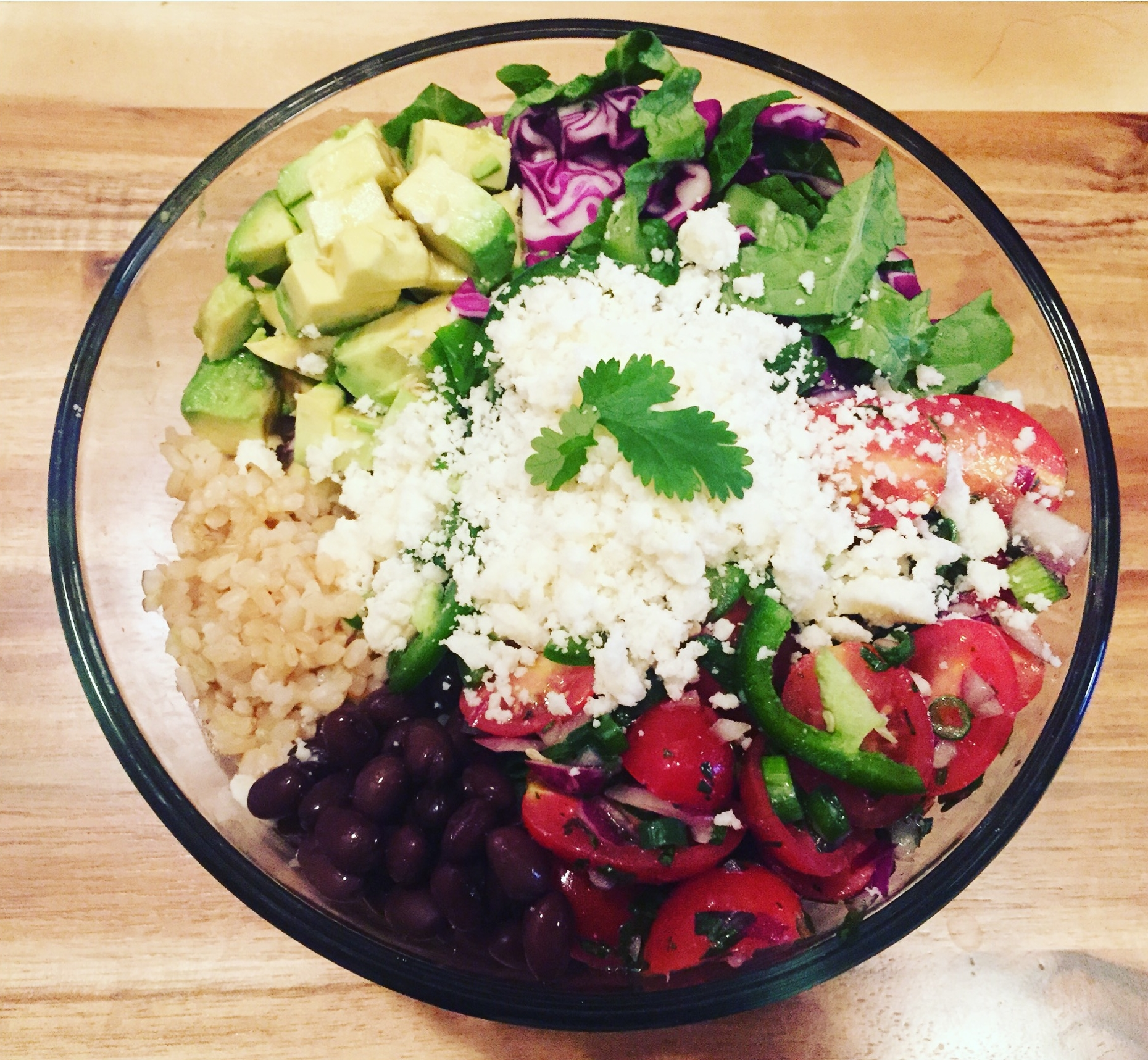 mexican brown rice bowl