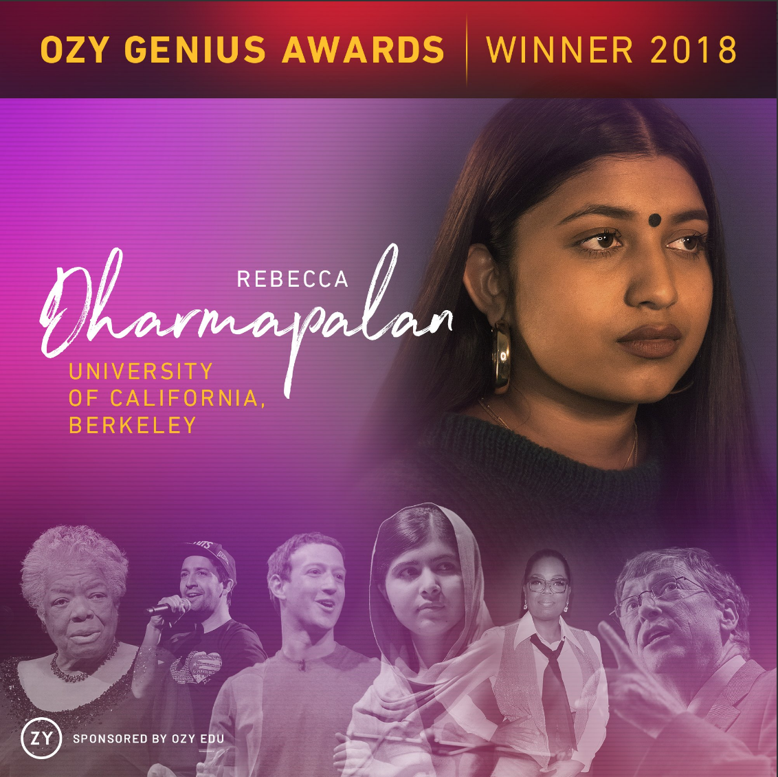 OZY Genius Award Winner 2018 -