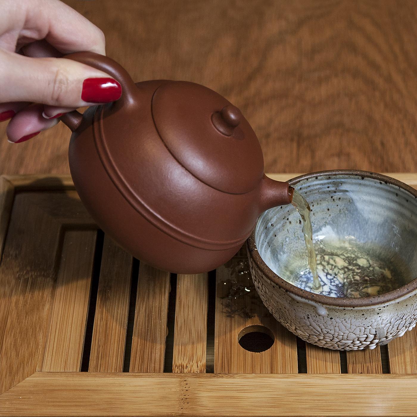 Oolong tea at Onsen